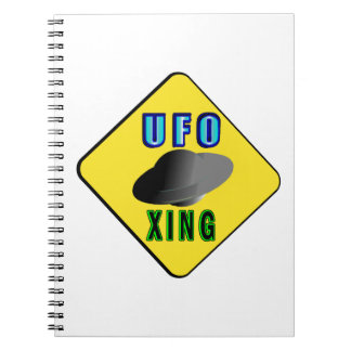 UFO Crossing Spiral Notebook