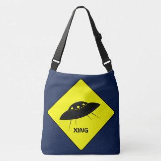 UFO crossing Tote Bag
