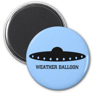 UFO del globo de tiempo Imán Redondo 5 Cm