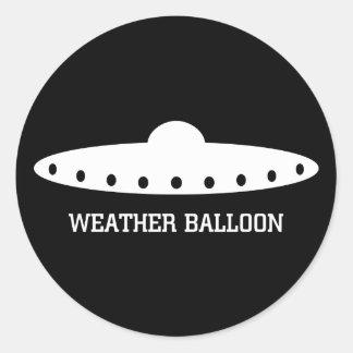 UFO del globo de tiempo Pegatina Redonda