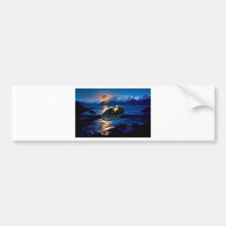 UFO DIGITAL FLYING SAUCER ART BUMPER STICKERS