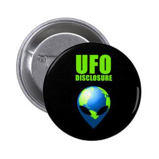 UFO Disclosure Pinback Button