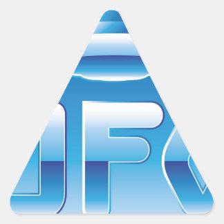 UFO en el cielo con la abreviatura Pegatina Triangular