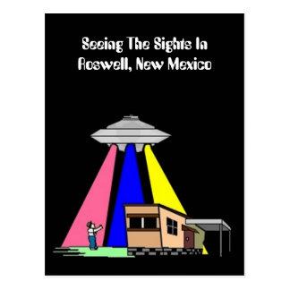 UFO extranjero de los mediados de siglo que ve la  Tarjeta Postal