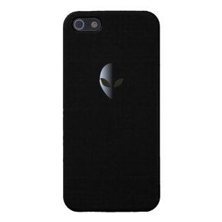 UFO extranjero del caso de Iphone 5 del negro del  iPhone 5 Fundas