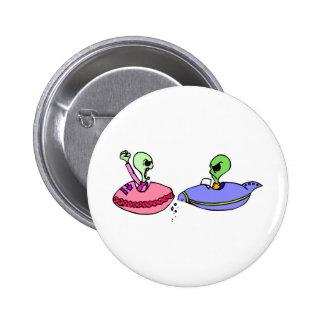 UFO fender bender Pinback Button