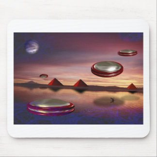 UFO fly above alien world Mouse Pad