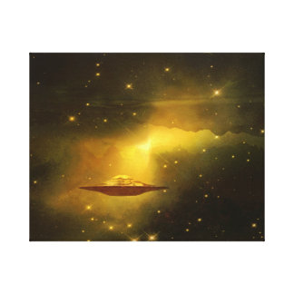 UFO flying object in space Canvas Print