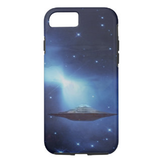 UFO flying object in space iPhone 8/7 Case