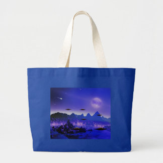 UFO flying object in space Large Tote Bag