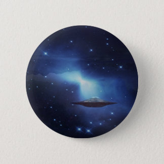 UFO flying object in space Pinback Button