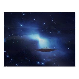 UFO flying object in space Postcard