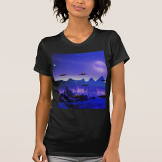 UFO flying object in space T-Shirt