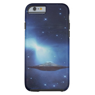 UFO flying object in space Tough iPhone 6 Case