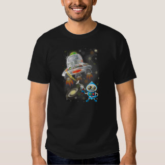 UFO flying out of The Milky Way Galaxy Tee Shirt