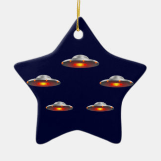 UFO Flying Saucers Christmas ornament
