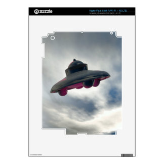 UFO Flying Through Clouds Decals For iPad 3