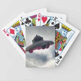 UFO Flying Through Clouds Card Deck