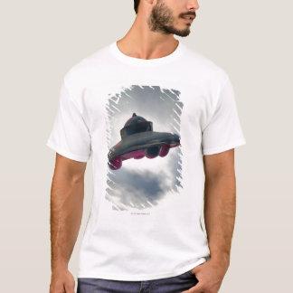 UFO Flying Through Clouds T-Shirt