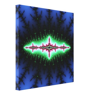 UFO Fractal Abstract Design Gallery Wrap Canvas