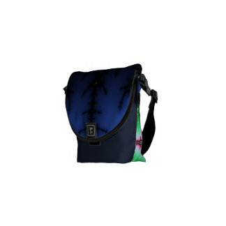 UFO Fractal Abstract Design Courier Bags