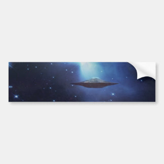 UFO galaxies Car Bumper Sticker