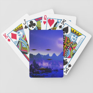 UFO galaxies Playing Cards