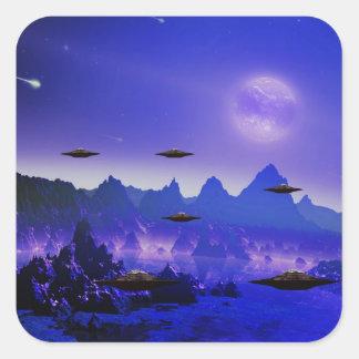 UFO galaxies Square Sticker