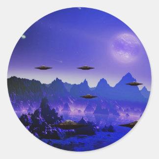 UFO galaxies Round Sticker