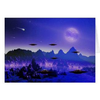 UFO galaxy Greeting Card