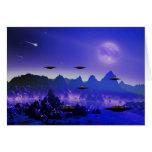 UFO galaxy Greeting Cards