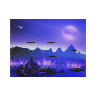 UFO galaxy  in space Canvas Print