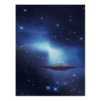 UFO galaxy Postcard