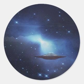 UFO galaxy Classic Round Sticker