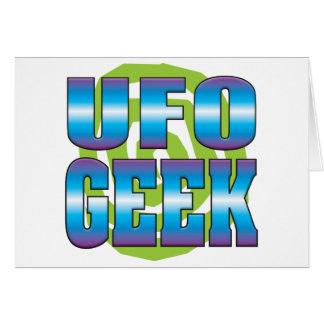 UFO Geek v3 Greeting Card