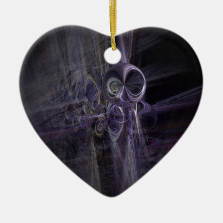 ufo gifts space Double-Sided heart ceramic christmas ornament
