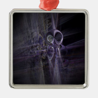 ufo gifts space square metal christmas ornament