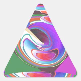UFO graphic design Triangle Sticker