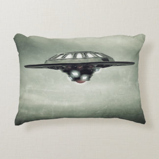 UFO Grunge Accent Pillow