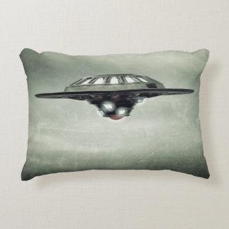 UFO Grunge Accent Pillow