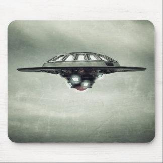 UFO Grunge Mouse Pad