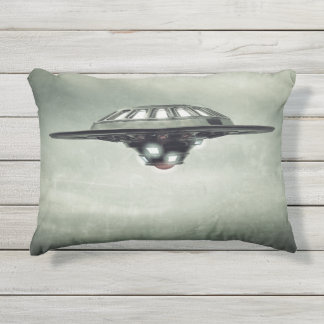 UFO Grunge Outdoor Accent Pillow