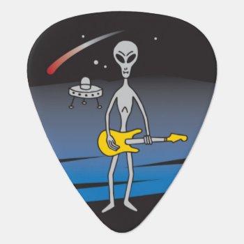 Ufo Guitar Alien Guitar Pick Plectrum by GroverAllmanPicks at Zazzle