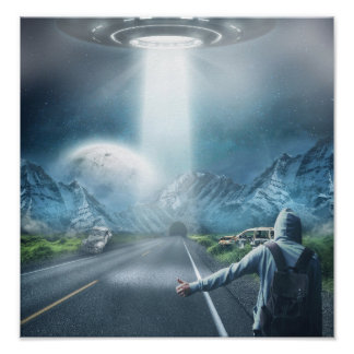 UFO Hitchhiker poster
