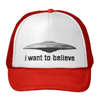 Ufo, i want to believe trucker hat