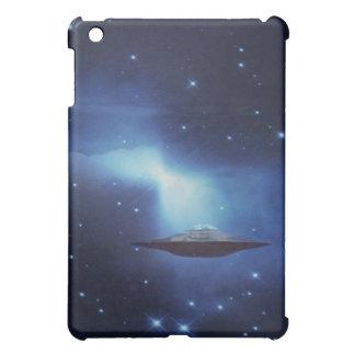 UFO in the blue galaxy iPad Mini Covers