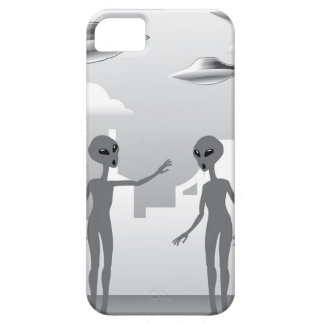 UFO in the sky Aliens On the ground iPhone SE/5/5s Case
