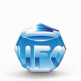 UFO in the sky with abbreviation Acrylic Award