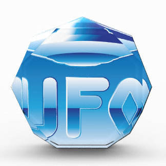 UFO in the sky with abbreviation Award