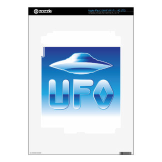 UFO in the sky with abbreviation iPad 3 Skin